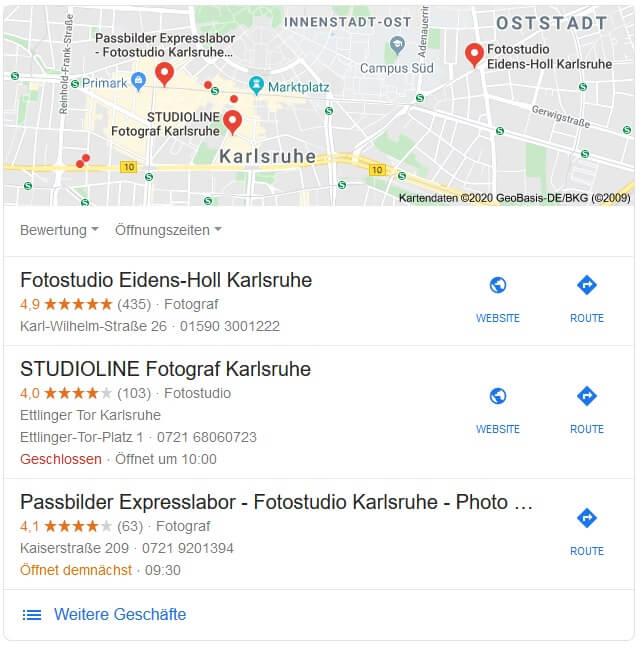 SEO für Fotografen Google My Business